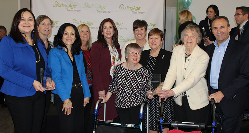 Parker team and residents at LeadingAge NJ event