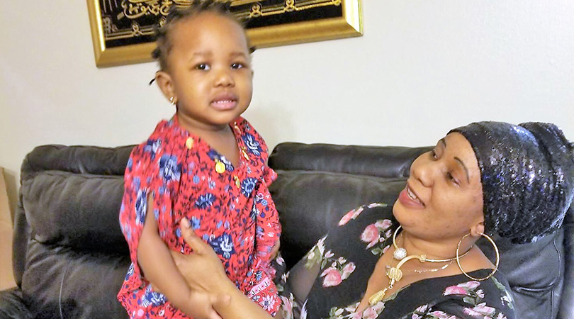 Aisha Kamara and Daughter