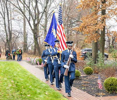 Color guard at Arlington Cemetery