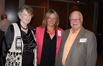 Pearl and Marty Teller with Catherine Martino (center)